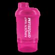 Shaker tárolóval 300ml  rózsaszin