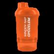 Shaker tárolóval 300ml narancssárga