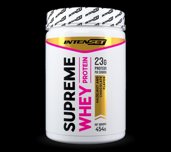 Intenset Supreme Whey protein fehérjepor csokis mogyoró 454gramm