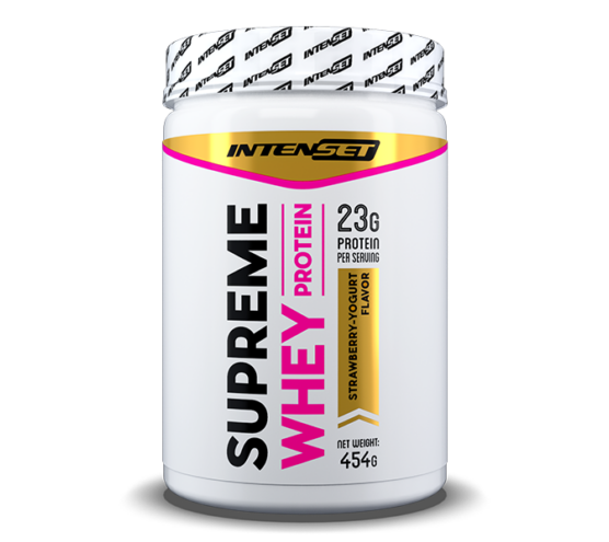 Intenset supreme whey proteinpor epes joghurt ízű 454gramm