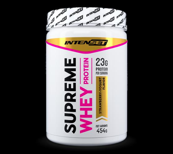 Intenset supreme whey protein fehérjepor epes joghurt ízű 454gramm