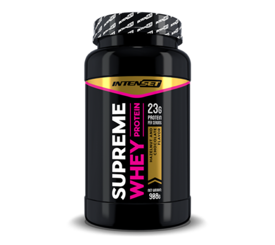 Intenset Supreme Whey protein fehérje Mogyorós Csoki 908g